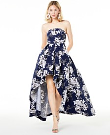 Speechless Juniors' Strapless High-Low Gown, Created for Macy's