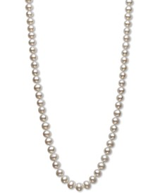 """AA+ 22"""" Cultured Freshwater Pearl Strand Necklace (7-1/2-8-1/2mm) in 14k gold"""