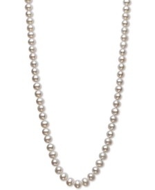 "Belle de Mer AA+ 22"" Cultured Freshwater Pearl Strand Necklace (7-1/2-8-1/2mm) in 14k gold"