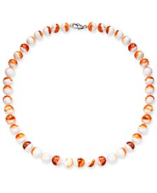 "Spiny Oyster Shell Bead 17"" Collar Necklace"