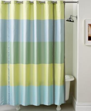 Martha Stewart Collection Encore Stripe Shower Curtain Bedding