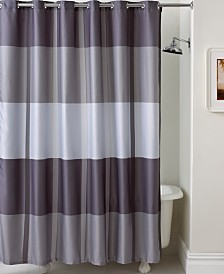 silver and gold shower curtain. Martha Stewart Collection Encore Stripe Shower Curtain Curtains  Macy s