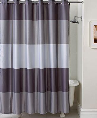 Shower Curtains martha stewart collection encore stripe shower curtain - shower