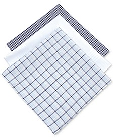 Men's 3-Pc. Check Handkerchief Set, Created for Macy's