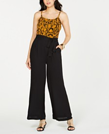 Thalia Sodi Printed Sleeveless Jumpsuit, Created for Macy's
