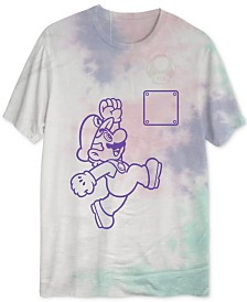 Mario Men's UV Sunlight Activated Tie Dyed T-Shirt