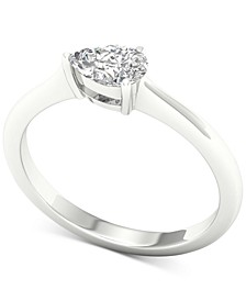 Diamond Pear Solitaire Ring (1/3 ct. t.w.) in 14k White Gold