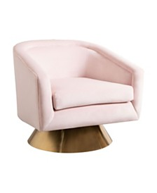 Chloe Swivel Accent Chair, Quick Ship
