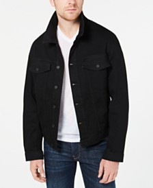 Hugo Boss Men's Pixel Graphic Denim Jacket