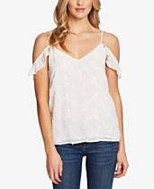 fd312ab609e9a2 CeCe Embroidered Off-The-Shoulder Tank Top