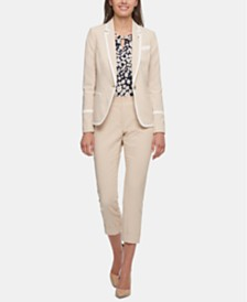 Tommy Hilfiger Piped Blazer, Keyhole Top & Cropped Pants