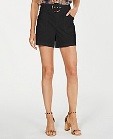 INC Petite Solid Buckle Shorts, Created for Macy's