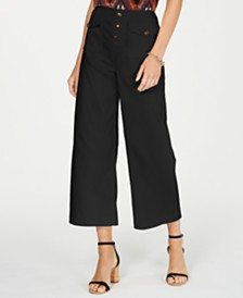 I.N.C. Petite Slap Pocket Wide-Leg Pants, Created for Macy's