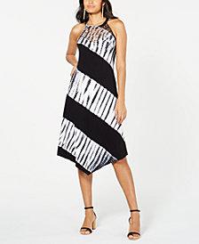 I.N.C. Tie-Dyed Crochet Midi Dress, Created for Macy's