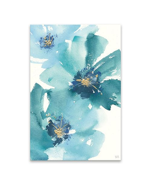 Artissimo Designs Teal Cosmos Iv Hand Embellished Canvas