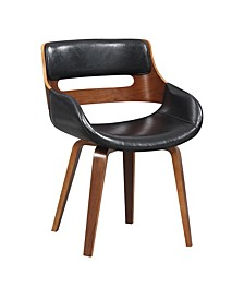 Faux Leather Mid-Century Dining Chair