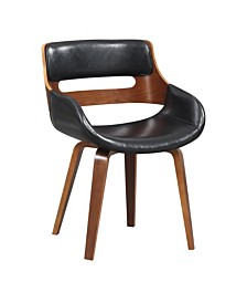 AC Pacific Faux Leather Mid-Century Dining Chair