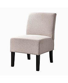 Modern Upholstered Armless Slipper Chair with Full Back