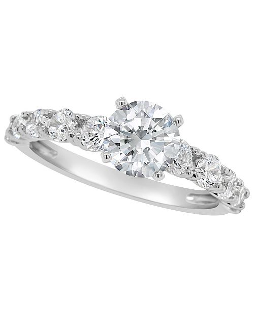 Macy's Certified Round Diamond Engagement Ring (2 ct. t.w.) in 14k White Gold, Rose Gold, or Yellow Gold
