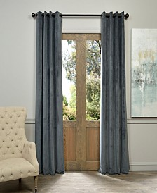 "Exclusive Fabrics & Furnishings Signature Grommet Blackout Velvet 50"" x 84"" Curtain Panel"