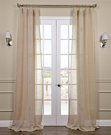 "Exclusive Fabrics & Furnishings Open Weave Linen Sheer 50"" x 84"" Curtain Panel"