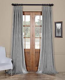"Exclusive Fabrics & Furnishings Signature Pleated Blackout Velvet 25"" x 108"" Curtain Panel"