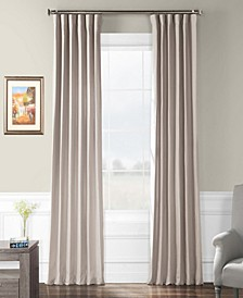 """French Linen Rod Pocket 50"""" x 84"""" Curtain Panel"""