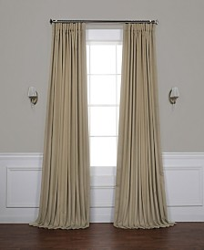 "Exclusive Fabrics & Furnishings Extra Wide Blackout 100"" x 84"" Curtain Panel"