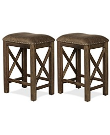 Willow Bend Stationary Counter Height Stool, Set Of 2
