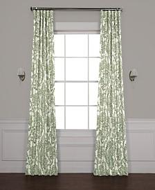 "Exclusive Fabrics & Furnishings Tea Time Blackout 50"" x 84"" Curtain Panel"