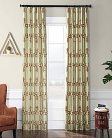 "Exclusive Fabrics & Furnishings Royal Gate Flocked 50"" x 108"" Curtain Panel"