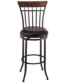 Cameron Swivel Vertical Spindle Bar Height Stool