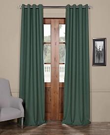 "Exclusive Fabrics & Furnishings Bellino Grommet Blackout 50"" x 84"" Curtain Panel"