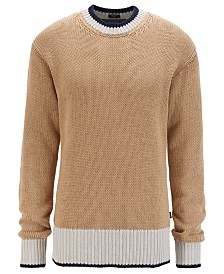 BOSS Men's Crosser Colorblocked Cotton Sweater