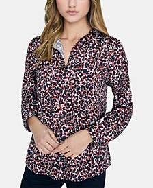 Animal-Print Long-Sleeved Shirt