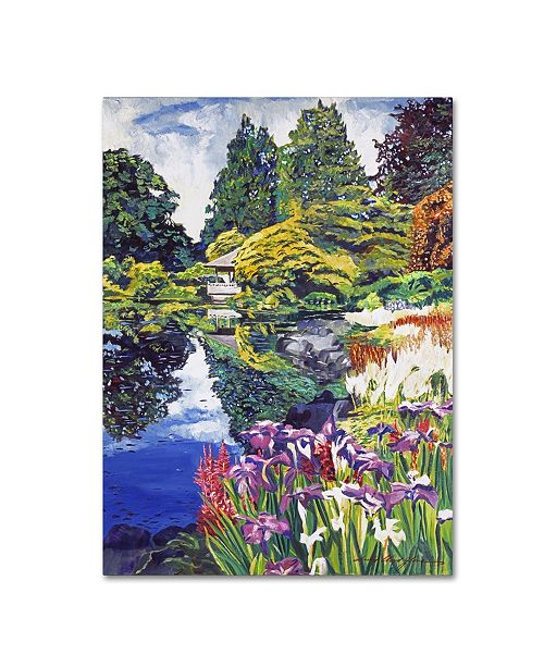 "Trademark Global David Lloyd Glover 'Tea House Lake' Canvas Art - 14"" x 19"""