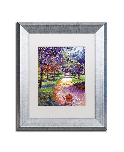 """Trademark Global David Lloyd Glover 'French Apple Orchards' Matted Framed Art - 11"""" x 14"""""""