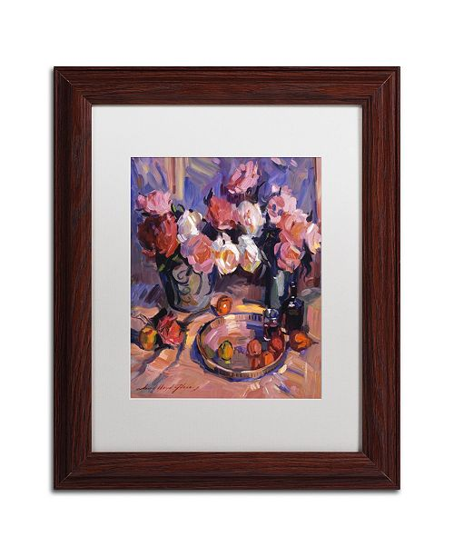 "Trademark Global David Lloyd Glover 'Still Life Apres Manet' Matted Framed Art - 11"" x 14"""