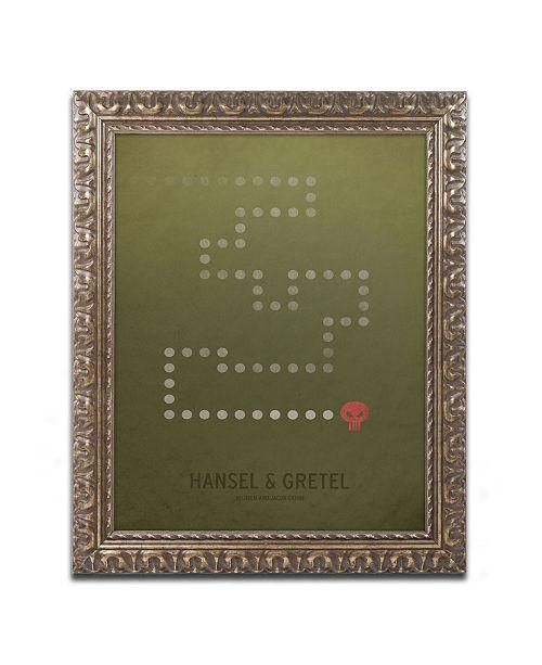 """Trademark Global Christian Jackson 'Hansel Gretel' Ornate Framed Art - 11"""" x 14"""""""