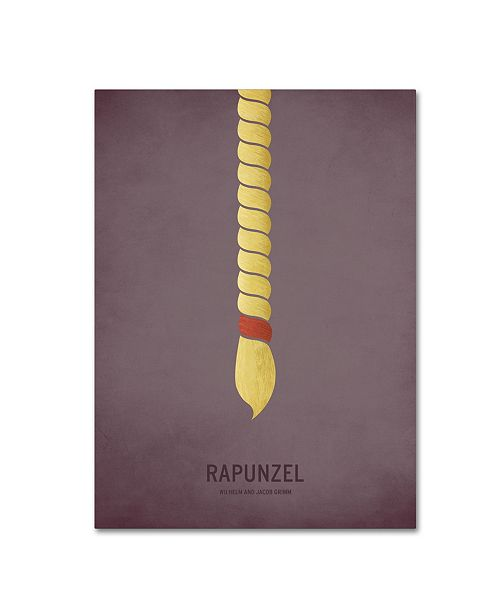 "Trademark Global Christian Jackson 'Rapunzel' Canvas Art - 14"" x 19"""
