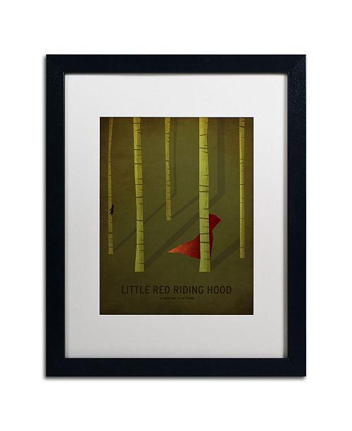 "Trademark Global Christian Jackson 'Red Riding Hood' Matted Framed Art - 16"" x 20"""