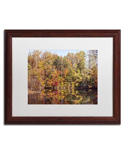 """Trademark Global Jason Shaffer 'Autumn Quarry' Matted Framed Art - 20"""" x 16"""""""