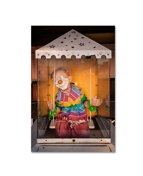 """Trademark Global Jason Shaffer 'Clown' Canvas Art - 22"""" x 32"""""""