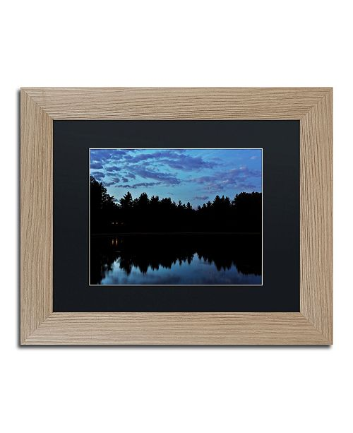 "Trademark Global Jason Shaffer 'Findlay Night' Matted Framed Art - 14"" x 11"""