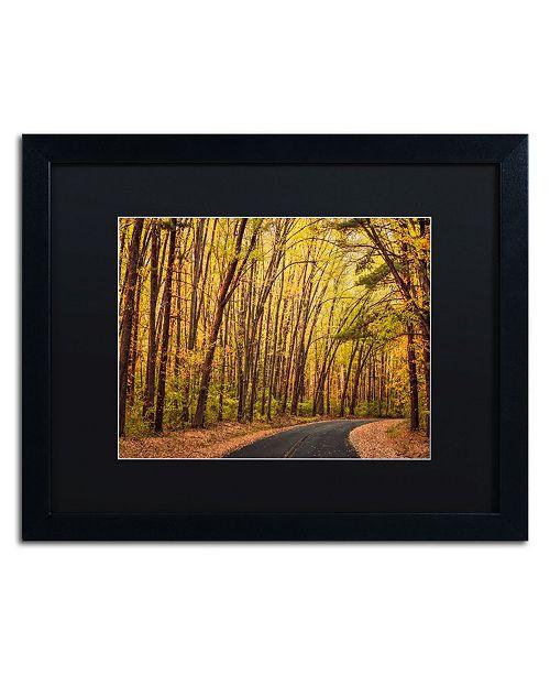 "Trademark Global Jason Shaffer 'Findlay Road' Matted Framed Art - 20"" x 16"""