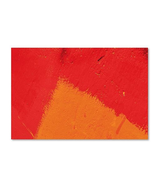 """Trademark Global Claire Doherty 'Abstract Orange Triangle' Canvas Art - 47"""" x 30"""""""