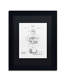 """Claire Doherty 'Baseball Glove Patent 1905 White' Matted Framed Art - 11"""" x 14"""""""