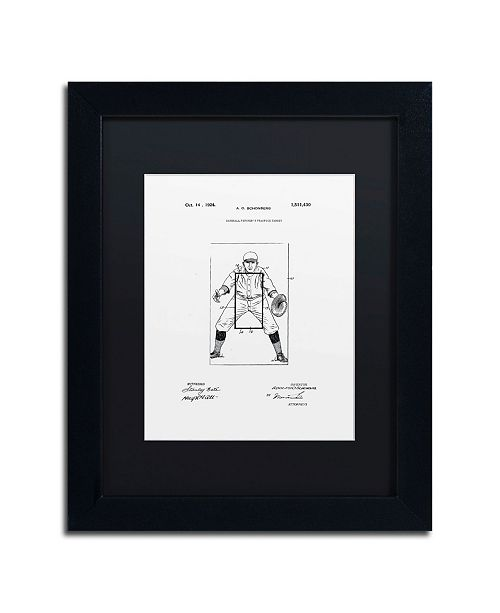 "Trademark Global Claire Doherty 'Practice Target Patent 1924 White' Matted Framed Art - 11"" x 14"""