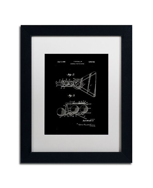 "Trademark Global Claire Doherty 'Practice Device Patent Part 2 Black' Matted Framed Art - 11"" x 14"""