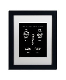 """Claire Doherty 'Lego Man Patent 1979 Page 1 Black' Matted Framed Art - 11"""" x 14"""""""